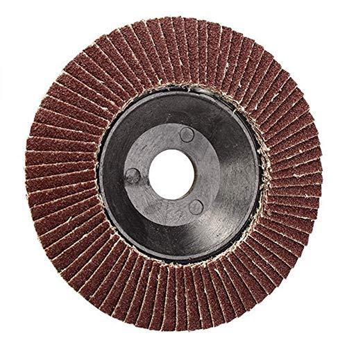 CHUNSHENN 研磨材、100ミリメートルフラップサンディングディスク砥石研磨サンディングディスクID 16ミリメートル60グリット 研磨用 研磨工具