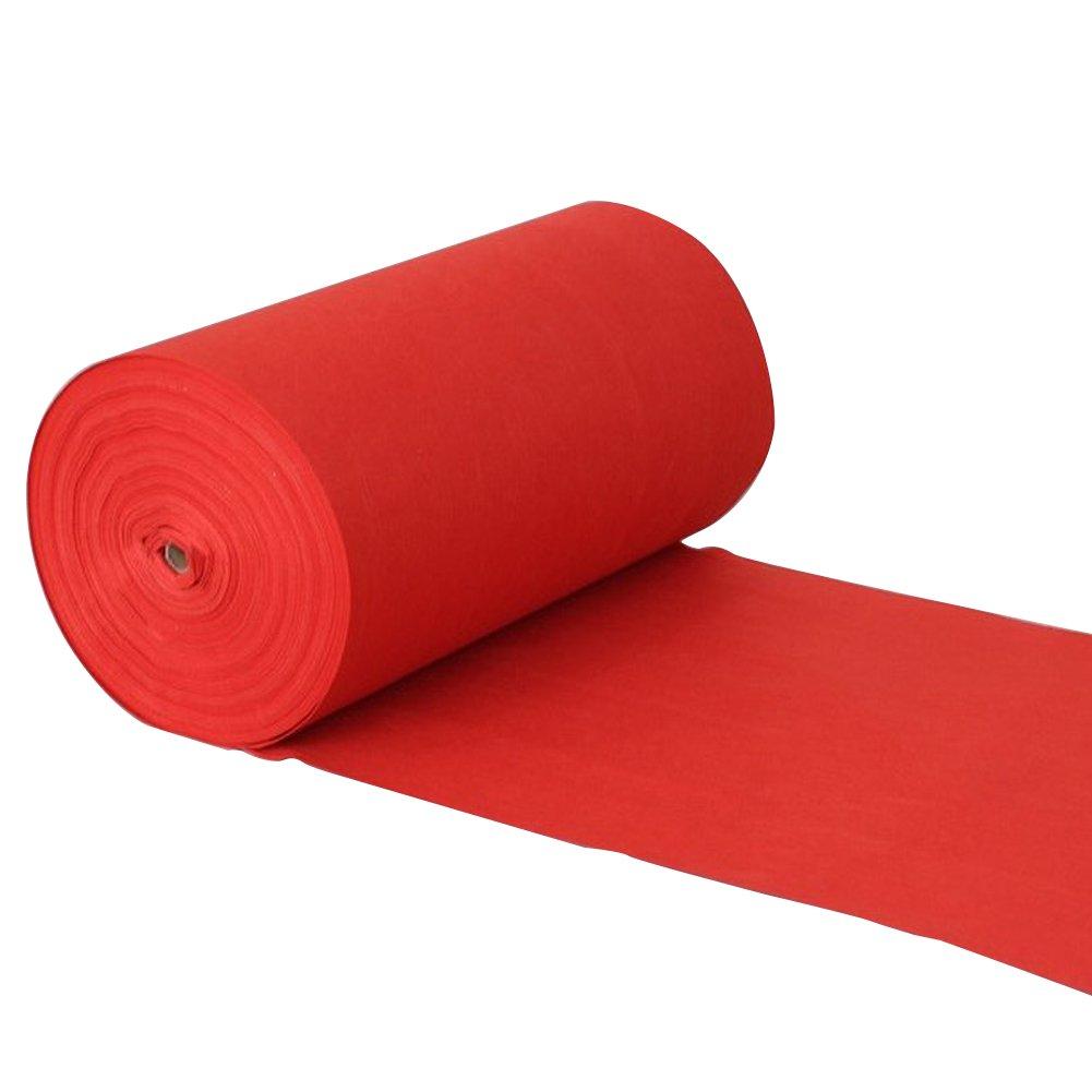 Hochzeits-Teppich-roter Wegwerfwolldecken-Rollen-Feier-Teppich-Läufer, Stärke 2mm