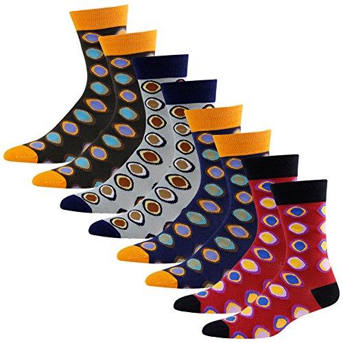 Comfortable Unique Crew Socks, diwollsam Men's Coloful Party Dress Winter Warm Socks 4 Pack