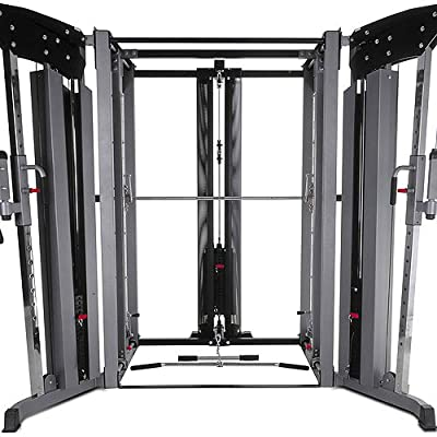 BodyCraft Jones Light Commercial Complete System with Lat Attachment, Cable Crossover and 7in Power Bar by Bodycraft Fitness