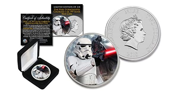 2017 Niue 1 oz Pure Silver BU Star Wars DARTH VADER Coin w// DEATH STAR Backdrop