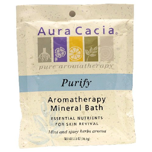 Aura Cacia Aromatherapy Mineral Bath, Purify, 2.5-Ounces (Pack of 6)