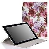 MoKo Microsoft Surface Pro 3 Case - Ultra Slim Lightweight Shell Stand Case for Microsoft Surface Pro 3 12 Inch Tablet, Floral PURPLE