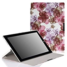 Microsoft Surface 3 Case - MoKo Ultra Slim Lightweight Smart-shell Cover Case for Surface 3 10.8 inch 2015 Version Windows 8.1 Tablet (NOT Fit Surface Pro 3 12 Inch Tablet), Floral PURPLE