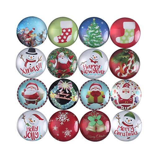 Zicome Set of 16 Refrigerator Magnets for Christmas Party Favor - Holiday Refrigerator