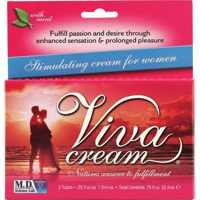 Natural Balance - M.D. Science Lab Viva Cream Stimulating Cream for Women - 3 Tubes - Pack Of 1 ()