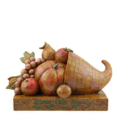 Enesco Jim Shore Heartwood Creek Heritage Horn of Plenty Figurine, 6-1/2-Inch (Horn Plenty)