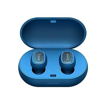 LQUYY T3 Auriculares Inalámbricos En La Oreja Deportes Auricular Carga con Carga Bin Binaural Inalámbrico Bluetooth Auricular Micrófono Incorporado,01: ...