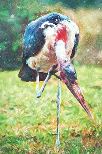 Notes: The Marabou Stork In Tanzania, Africa - Blank College-Ruled Lined Notebook (Student Animal Journals for Writing Journaling & Note-taking) ()