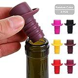 Silicone Wine Stoppers, Bottle Stopper, Wine Bottle Cork,3-Pack in Multi-Color Reusable Wine Bottle Caps/Beer Sealer Cover by Shellvcase(Random Color)