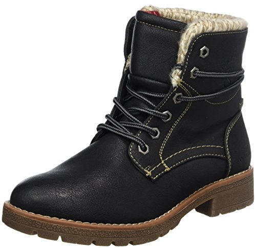 TOM TAILOR Damen 3792001 Stiefel Schwarz (Black)