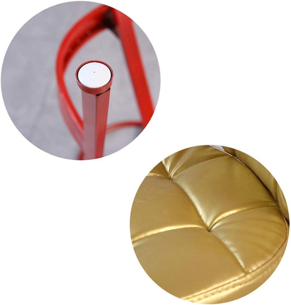 Chaise de Bar, Fauteuil de Loisirs Tabouret Haut Tabouret de Bar Maison en Fer forgé PU Tabouret Haut Salon Bureau Gold