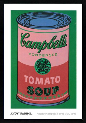 Andy Warhol Colored Campbells Soup Can Art Poster Print Custom Framed