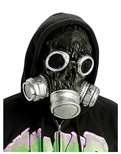 [Adult Men's Zombie Bio-hazard Mask (Black)] (Breaking Bad Jesse Costumes)