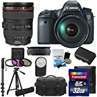 Canon EOS 6D 20.2 MP CMOS Digital SLR Camera with 3.0-Inch LCD and :	Canon Zoom Wide Angle-Telephoto EF24-105mm IS f/4 L USM Lens Kit UV Filter Kit With Extra Battery +Tripod + Monopod with 32GB Complete Deluxe Accessory Bundle And Much More! Noticeable Review Image