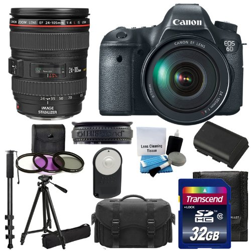 Canon EOS 6D CMOS Digital SLR Camera & Canon Zoom Wide Angle