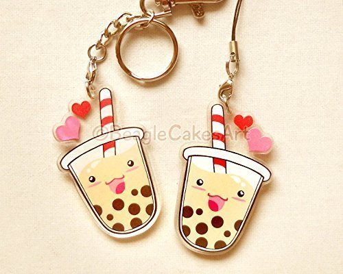 Bubble Tea Keychain.