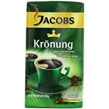 Jacobs Kronung Coffee, 8.81-Ounce Vacuum Packs (Pack of 4) by Jacob's Coffee