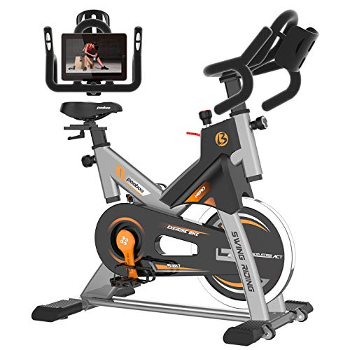pooboo Exercise Bike Indoor Stationary Cycling Bike with Comfortable Seat Cushion & LCD Monitor for Home Workout Bike…