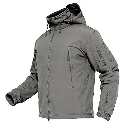 Mens Ski Jackets Waterproof Jacket Windproof Jacket Tactical Softshell Jacket for Men X-Large Grey