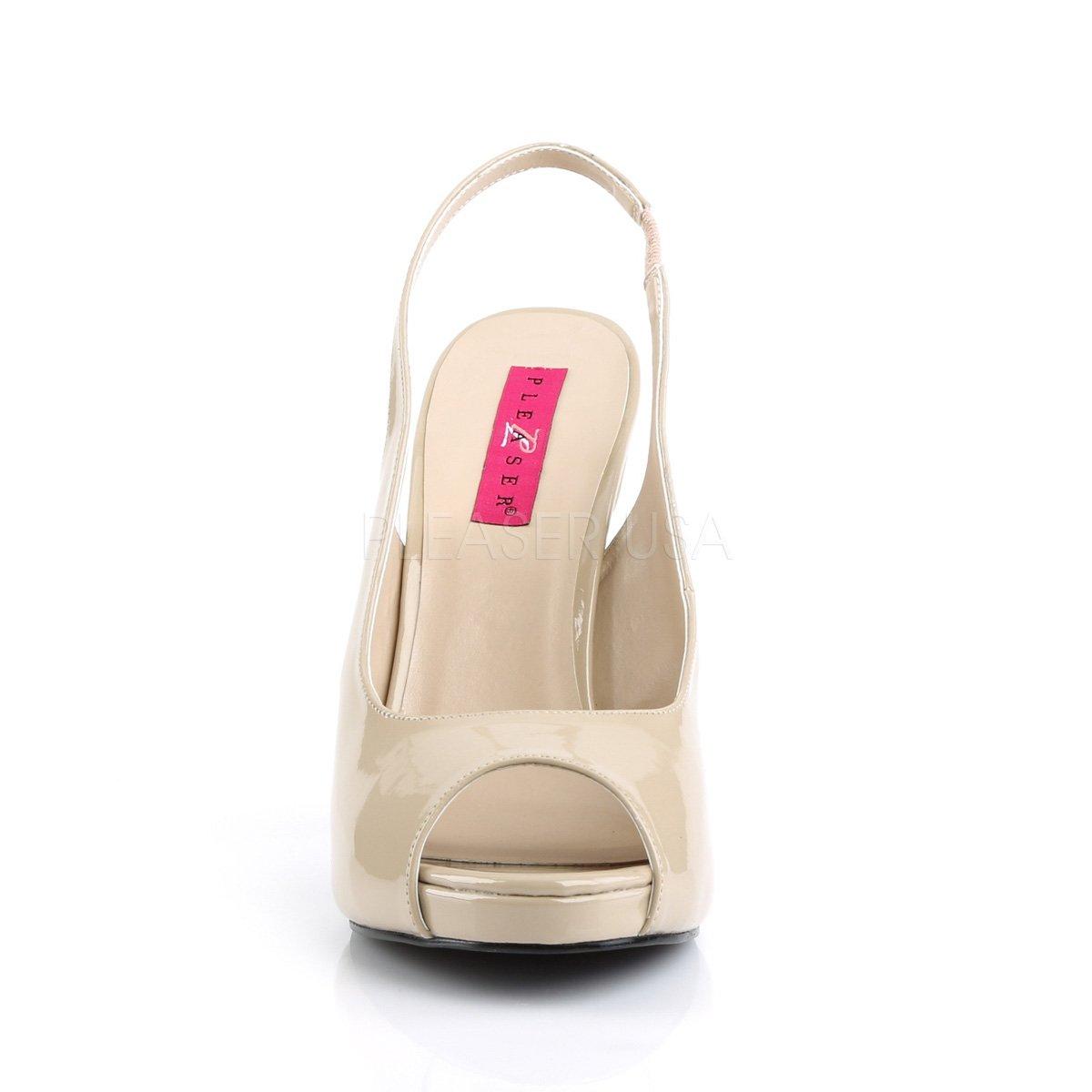 Rosa Rosa Rosa Label Big Größe Slingback Pumps Eve-04 Lack Creme Übergröße 7686d4
