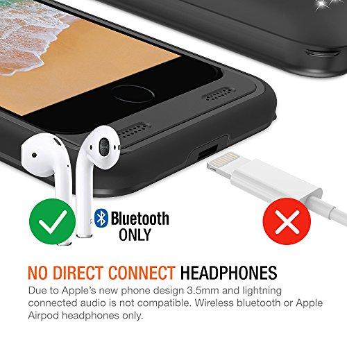 "iPhone 8 Plus/7 Plus Battery Case, Trianium Atomic Pro 4200mAh Extended 8 Plus Battery Portable Charger for iPhone 7 Plus,8Plus (5.5"")[Black] Power Juice Charging Case Pack [Apple Certified Part]"