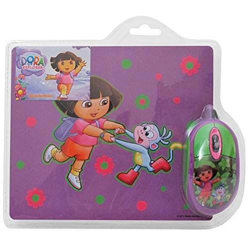Dora the Explorer Mouse and Mousepad Kit - 1 Year Direct Manufacturer Warranty