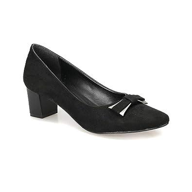 652ab429082b5 Miss F Dw18033 Siyah Kadın Gova Ayakkabı: Amazon.com.tr: FLO & INSTREET
