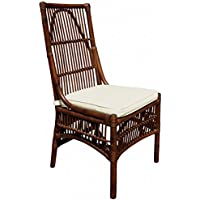 Panama Jack Sunrooms PJS-2001-ATQ-SC Bora Bora Side Chair with Cushion, Light Beige