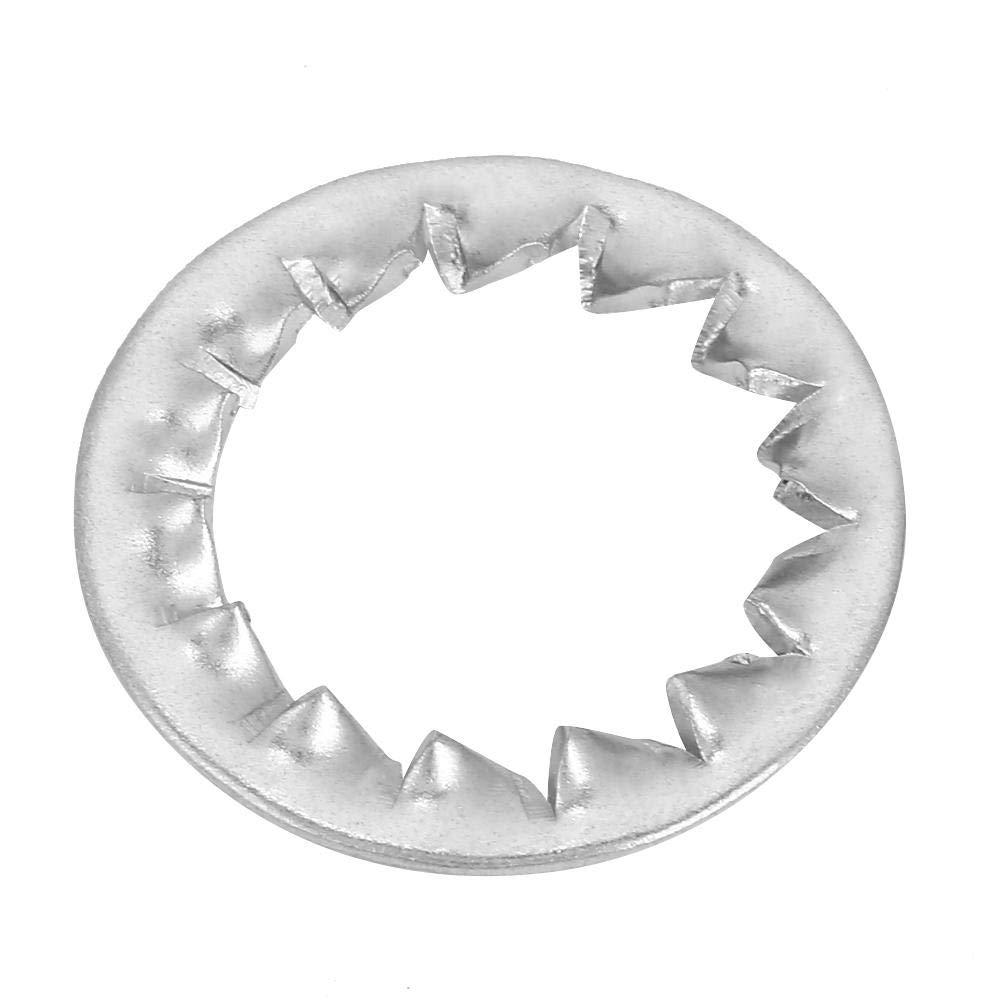 M3, M4, M5, M6, M8, M10, M12, M16 50PCS Zahnscheibe M8 10//20//30//50//100 Stk Edelstahl-Zahnscheibe mit Au/ßenverzahnung