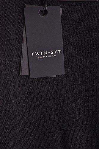 Twin Set Damen MCBI302126O Schwarz Wolle Strickjacke FMaLPMC