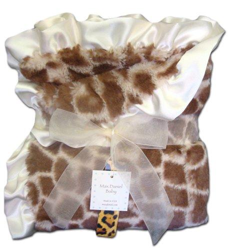 (Max Daniel Baby Throw Blanket - Ivory Giraffe)
