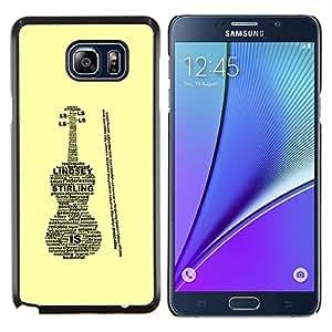 YiPhone /// Prima de resorte delgada de la cubierta del caso de Shell Armor - Lindsey Caja del violín Sterling - Samsung Galaxy Note 5 5th N9200