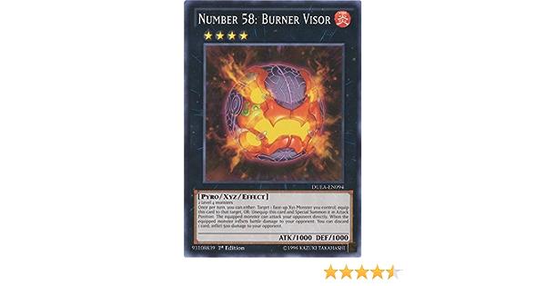 Near Mint Condition YUGIOH Card Number 58 Burner Visor Mint
