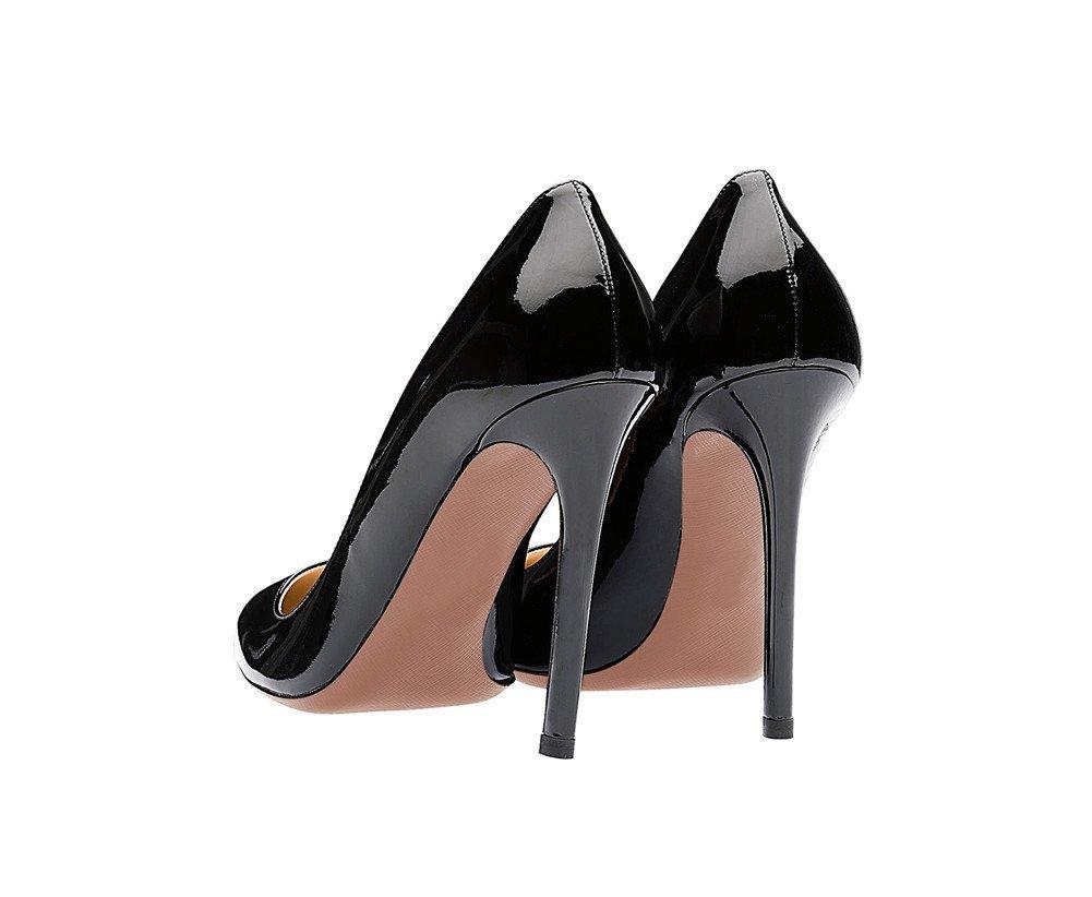 SexyPrey Women's Pointy Toe Stiletto Shoes Formal Office Evening Pumps B074M43X97 7 B(M) US Black