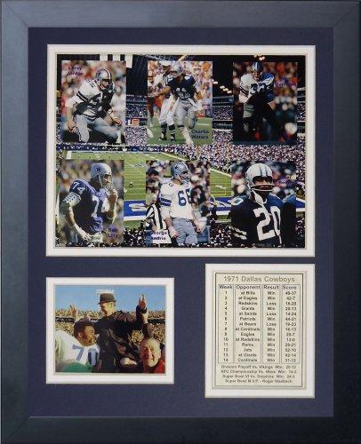 Legends Never Die Dallas Cowboys 1971 Super Bowl Champions Framed Photo Collage, 11x14-Inch 1971 Dallas Cowboys Super Bowl