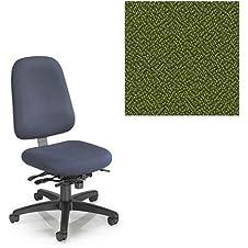 Office Master Paramount Collection 7770 Ergonomic Cross-performance Chair - No Armrests - Grade 1 Fabric - Spice Mint Green 1168 PLUS Free Ergonomics eBook