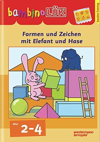 BambinoLÜK Übungshefte   Kindergarten  BambinoLÜK  2 3 4 Jahre  Formen Und Zeichen Mit Elefant Und Hase