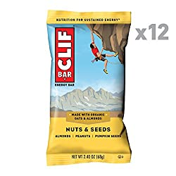 CLIF BAR - Energy Bar - Nuts & Seeds - (2.4 Ounce Protein Bar, 12 Count)