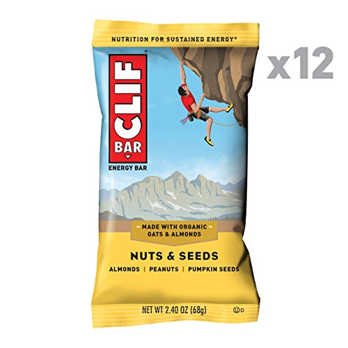 - CLIF BAR - Energy Bar - Nuts & Seeds - (2.4 Ounce Protein Bar, 12 Count)