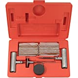 Tooluxe® 50002L Tire Repair Kit Set to Plug Flat and Punctured Tires | 35-Piece Set