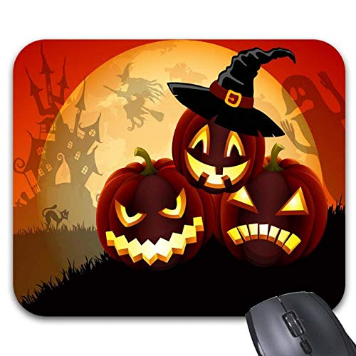 Happy Halloween My Love Quotes Mouse Pads Rubber Non Slip(9.84 x 7.87in) ()