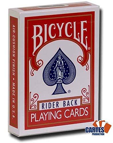 Juego de 54 cartas Bicycle Rouge : Magie Double Dos ...