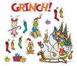 "Eureka Dr. Seuss's ""The Grinch"" Bulletin Board Set, 4 Panels 17 x 24"" Each"