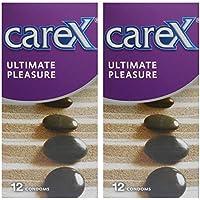 Carex Condoms Ultimate Pleasure 24 Count, Set of 2 - PHI0800B