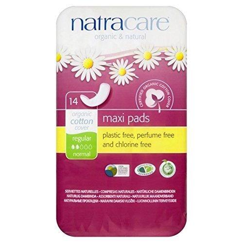Natracare Organic Natural Maxi Pads Regular 14 per pack