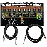 Radial Engineering ToneBone PZ-Pre Instrument Preamp Pedal DI w/ 2 Cables