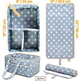 Diaper Storage Caddy Nursery Organizer | Grey Baby