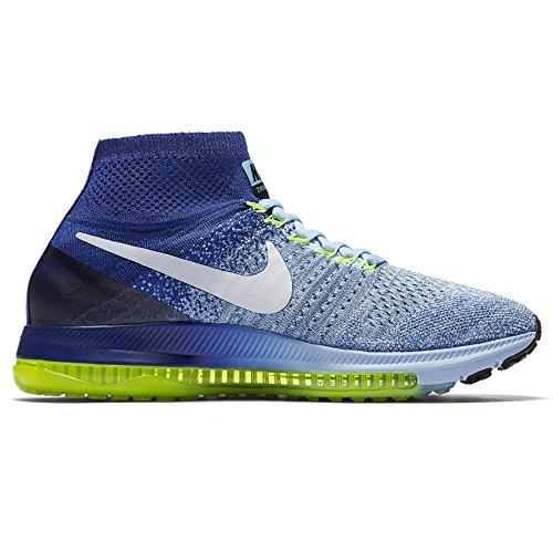 Nike Vrouwen Alle Uitzoomen Flyknit Loopschoenen Bluecap Wit 400