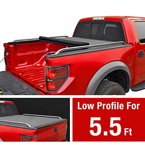 MaxMate Low Profile Roll Up Truck Bed Tonneau Cover Works with 2009-2019 Ford F-150 | Styleside 5.5' Bed | for Models Without Utility Track System